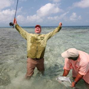 Fiske Placencia glad fisker